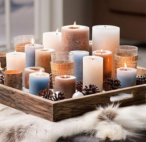 decorações para iluminar sua casa com vela