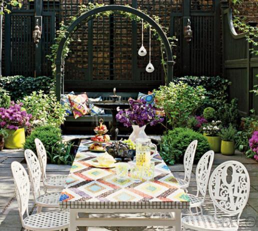 decoração para ambientes externos