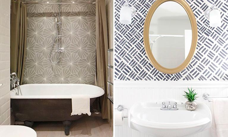 Veja como usar papel de parede no banheiro